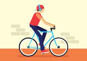 Illustration vectorielle de bicyclette