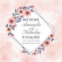 Vecteur Aquarelle Save the Date Card