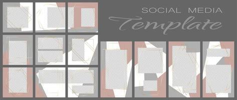 modèle de bannière de médias sociaux. maquette modifiable pour les histoires, blog personnel, mise en page pour la promotion. vecteur