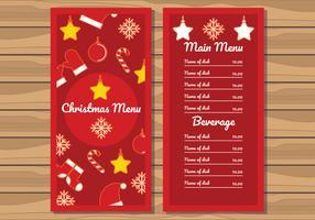 Illustration du menu du dîner de Noël