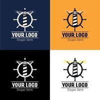 ensemble de logos timon et phare vecteur