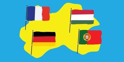 euro 2020 groupe f vecteur