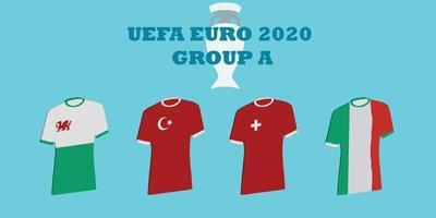 tournoi uefa euro 2020 groupe a vecteur