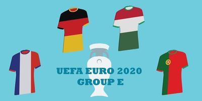 tournoi uefa euro 2020 groupe e vecteur