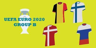 tournoi uefa euro 2020 groupe b vecteur