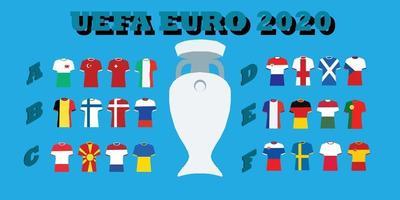 tournoi uefa euro 2020 vecteur
