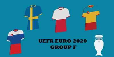 tournoi uefa euro 2020 groupe f vecteur