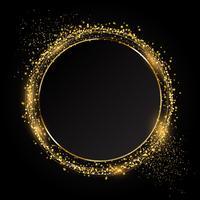 Fond de cercle pailleté idéal pour les fêtes vecteur