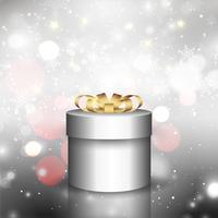 Fond de cadeau de Noël avec des lumières de bokeh vecteur