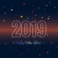 Fond coloré de la bonne année 2019 carte célébration
