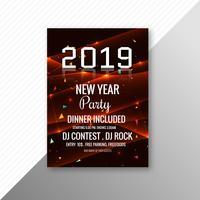 Modèle de conception 2019 fête du nouvel an brochure brochure vecteur