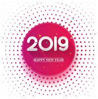 Conception de cartes colorées élégante 2019 bonne année vecteur