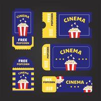 Pack de vecteur de coupon de cinéma