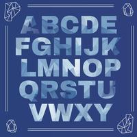 Alphabet glacé vecteur