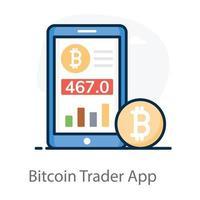 application de commerçant de bitcoins vecteur