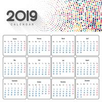 Beau design de calendrier d'entreprise 2019