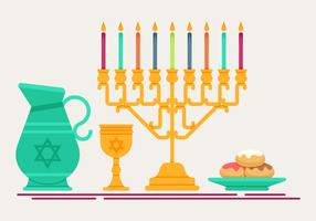 la menorah vecteur