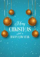 Fond de Noël aux couleurs cuivre et turquoise vecteur