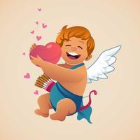 Cupidon avec amour vecteur