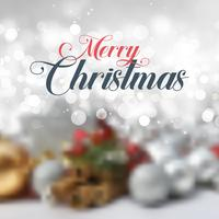 Texte de Noël décoratif sur fond défocalisé