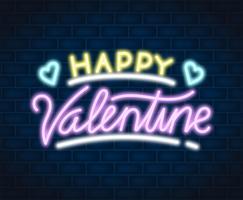 illustration de néon Saint Valentin vecteur