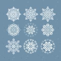 Collection de flocons de neige de vecteur