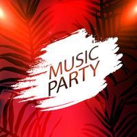 Affiche de la fête de la musique, illustration vectorielle de parti flyer