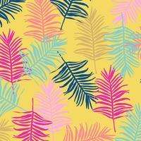 Jungle tropicale feuilles sans soudure de fond vecteur