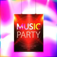 Affiche de la fête de la musique, vecteur de modèle flyer parti