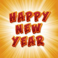 Bonne année vecteur