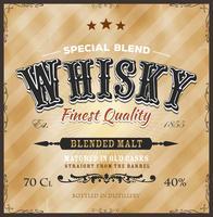 Étiquette de whisky pour la bouteille vecteur