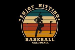 conception de silhouette de baseball en californie vecteur