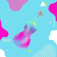 Conception d'illustration vectorielle coloré violoncelle vecteur