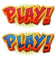 Jouer au jeu Icon for Ui vecteur