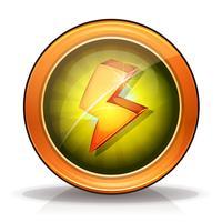 Foudre Icons Badge Pour Jeu Ui vecteur