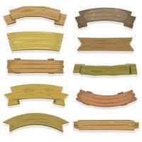 Bannières et rubans en bois