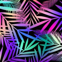 Fond de feuilles colorées. Conception d'affiche tropicale colorée vecteur