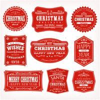 Cadres, bannières et badges de Noël vecteur