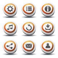 Icônes de signalisation routière et boutons pour le jeu de l'interface utilisateur