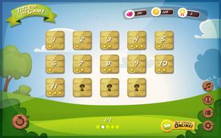 Conception de l'interface utilisateur du jeu pour tablette vecteur