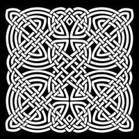 Fond de mandala celtique blanc et noir vecteur