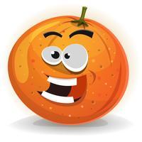 Caractère de fruits orange vecteur