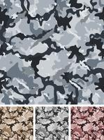 Camouflage de nuit militaire complexe sans couture vecteur