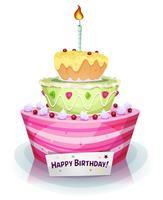 Gâteau d'anniversaire vecteur
