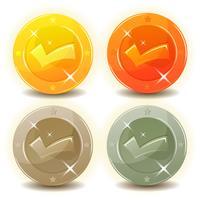 Pièces de crédit définies pour l'interface de jeu vecteur