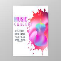 Affiche de concert de musique vecteur