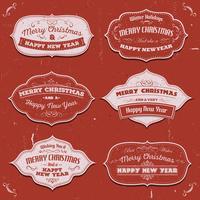 Joyeux Noël bannières, insignes et cadres vecteur