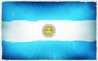 Fond d'affiche de drapeau vintage de l'Argentine vecteur