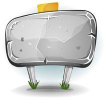Panneau de pierre pour le jeu de l'interface utilisateur vecteur
