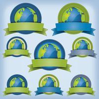 Bannière Terre Et Environnement vecteur